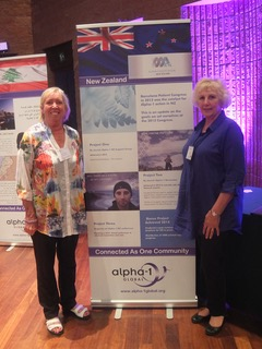 Val and Marilyn at the Alpha-1 Global Congress in Barga, Italy