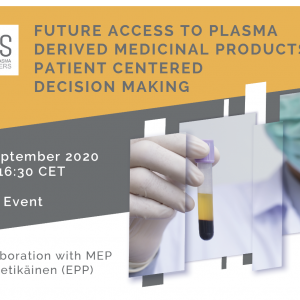 Future access to Plasma Derived Medicinal Products: Patient Centred Decision Making