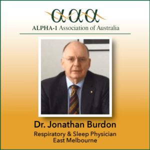 Alpha-1 Association of Australia WEBINAR with Dr  Burdon